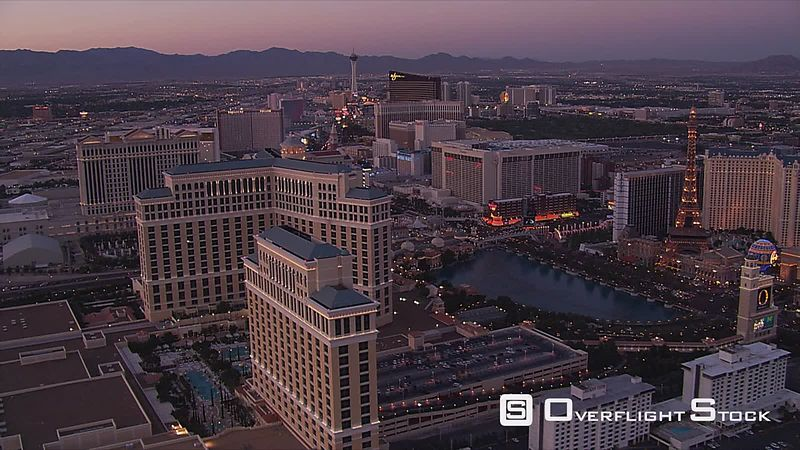 Evening flight from Boardwalk to Caesar's Palace in Las Vegas.