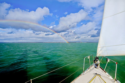 Rainbows off the port bow