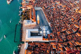 Overhead of St Mark's square, Venice, Italy