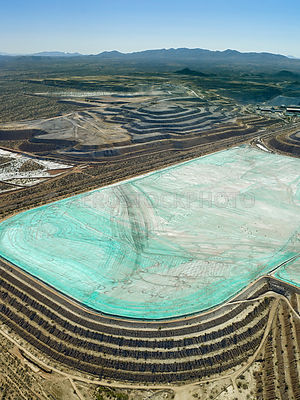 tailings pond of the Sierrita Mine, Pima County, Arizona, USA