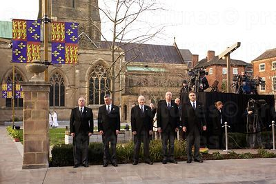 Line of Funeral Undertakers Awaiting the Cortege of Richard III