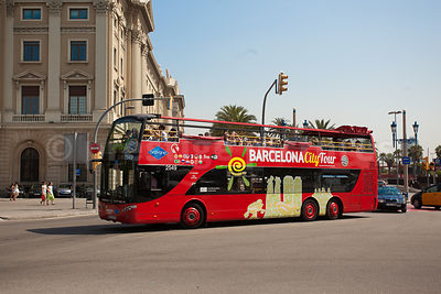 Barcelona Red Open Top Bus