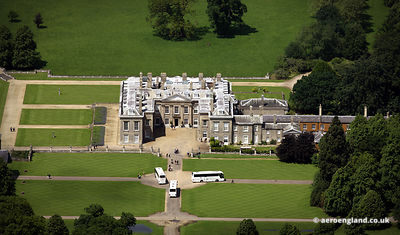 aerial photograph of Althorp House Northamptonshire England UK