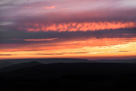 Summer sunset from Stanage Edge