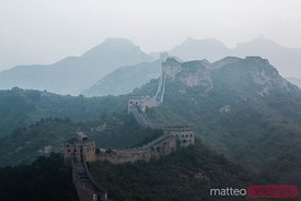The Great Wall in the mist, Jinshanling, China