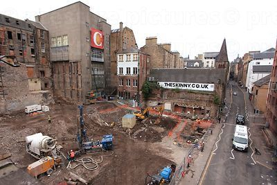 Demolition and excavation Site where the 2002 Cowgate Fire took Place - 2012