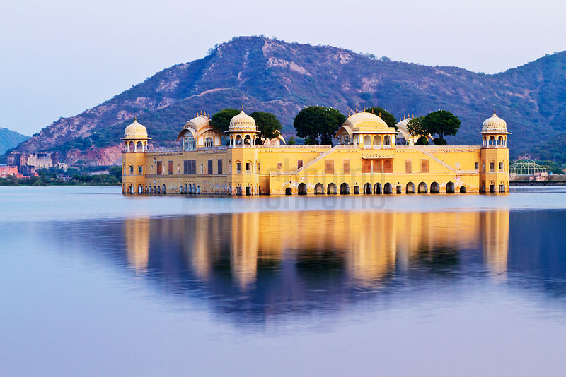 Jal Mahal Water Palace on lake Man Sagar