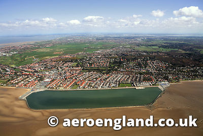 aerial photograph of  West Kirby  Merseyside UK