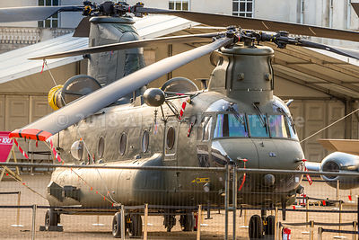 Chinook helicopter on display