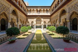 Courtyard of the Maidens in the Alcazar of Seville, Andalusia, Spain