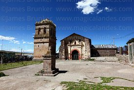 Colonial church in Atuncolla, Puno Region, Peru