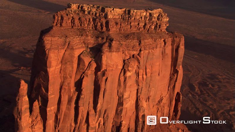 Flight approaching and partially orbiting Monument Valley's East Mitten Butte