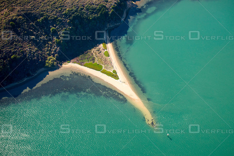 A Peninsula of Sand Forms a Spit That Juts Into Tomales Bay, California.