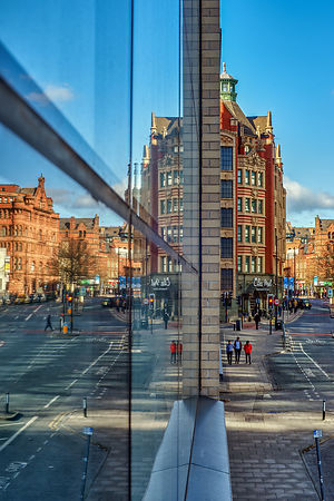Cityscape | Canvas wall art | for sale | Reflections of Manchester