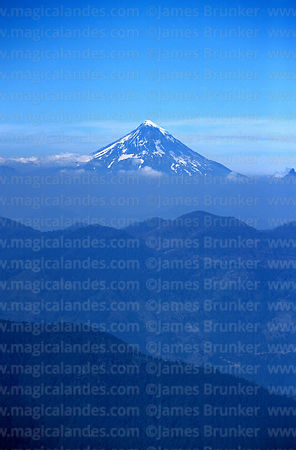 Lanin volcano, seen from Huerquehue National Park, Region IX, Chile