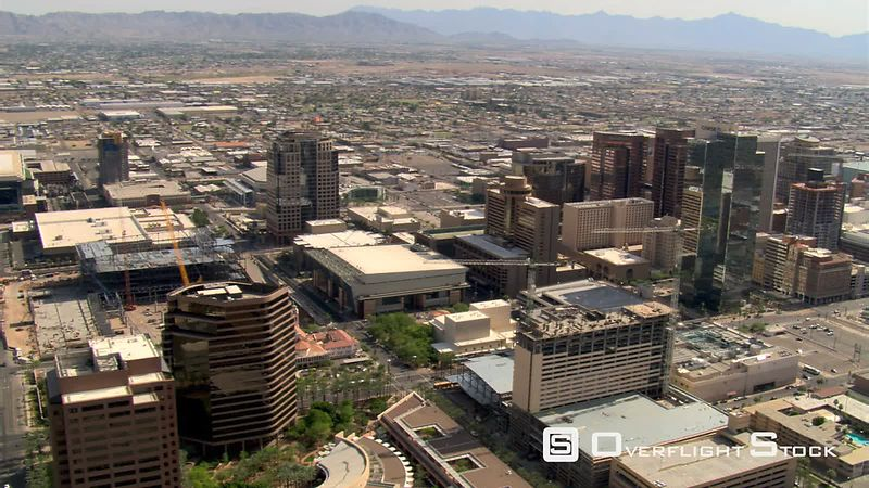 Wide orbit around downtown Phoenix.