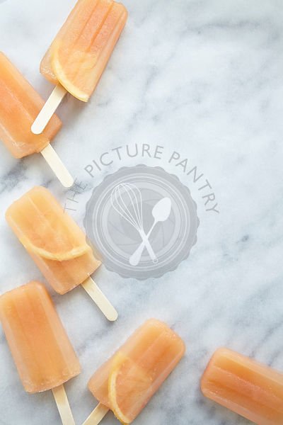 Pink Grapefruit Ice Lollies