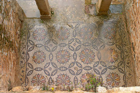 Mosaic Floor of the New House of The Hunt, Bulla Regia, Tunisia; Landscape