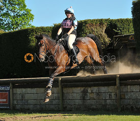 Sophie Aylmer and Dungannon Bay, Brigstock International Horse Trials 2010.