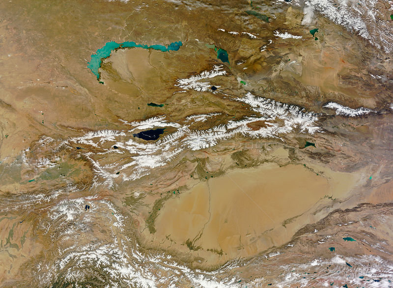 EARTH Central Asia -- 09 Oct 2012 -- The Himalayas - which began forming about 50 million years ago when the Indian subcontinent started to collide with Eurasia