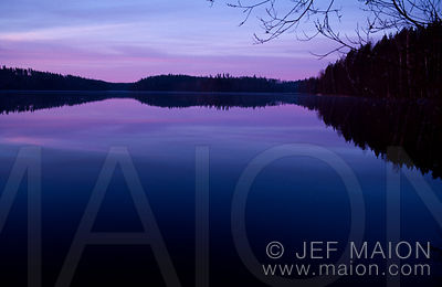 Sunrise on Lake Isopaljojarvi