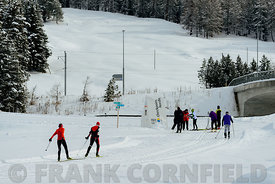 Celerina cross country skiers