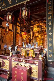 Buddhist temple in Shanghai, China