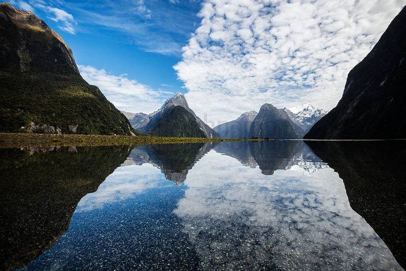 Mitre Peak 1692m in Milford Sound, Fiordland NP, Southland, New Zealand