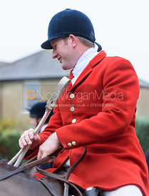 Chris Edwards at the meet - The Cottesmore at Knossington 22/11
