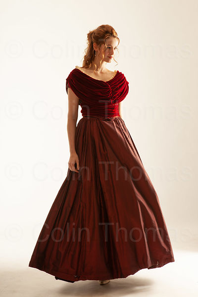 Woman in Victorian long dress photos