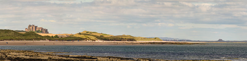 Bamburgh and Lindisfarne panorama