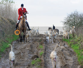 The Cottesmore Hunt at Burrough House.
