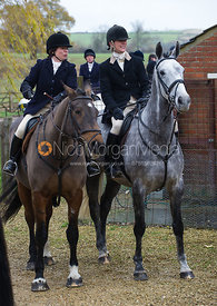 At the meet - The Cottesmore at Tumblerow Farm 22/11/12