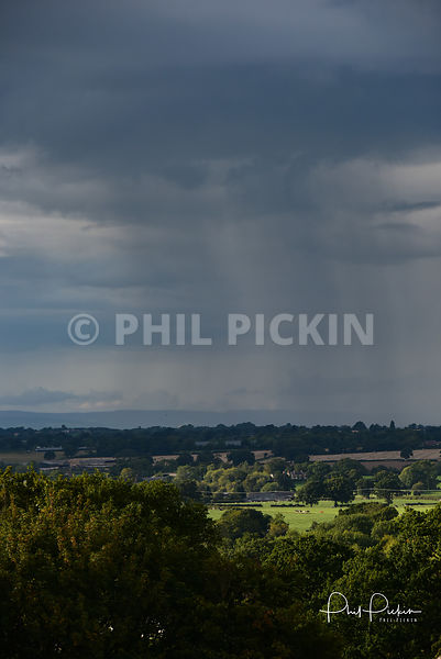 Storm clouds over Shropshire