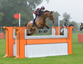 Sarah Bullimore and VALENTINO V - cross country phase,  Land Rover Burghley Horse Trials, 6th September 2014.