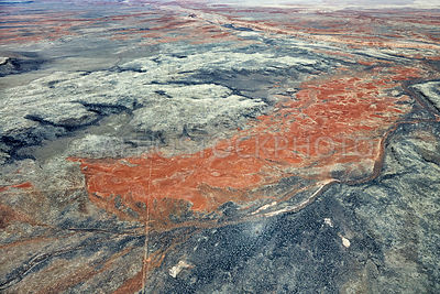 Lava flows north of  the Roden Crater, Painted Desert, .Arizona, USA.