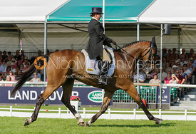 Louise Lyons and WATERSHIP DOWN - dressage phase,  Land Rover Burghley Horse Trials, 5th September 2013.