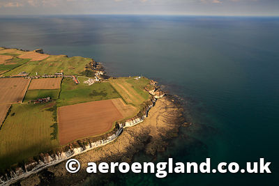aerial photograph of Flamborough Head  Yorkshire England UK