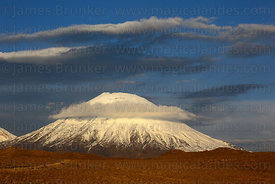 Parinacota volcano shortly before sunset , Lauca National Park , Region XV , Chile