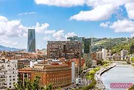 Bilbao cityscape, Basque country, Spain