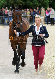 Dani Evans and RAPHAEL II - First Horse Inspection, Mitsubishi Motors Badminton Horse Trials 2014