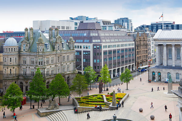 Victoria Square and New Street, Birmingham, England