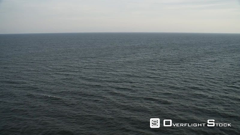 Over open ocean off the New Jersey coast. Shot in November