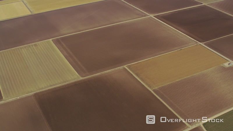 Aerial view of agricultural field patterns