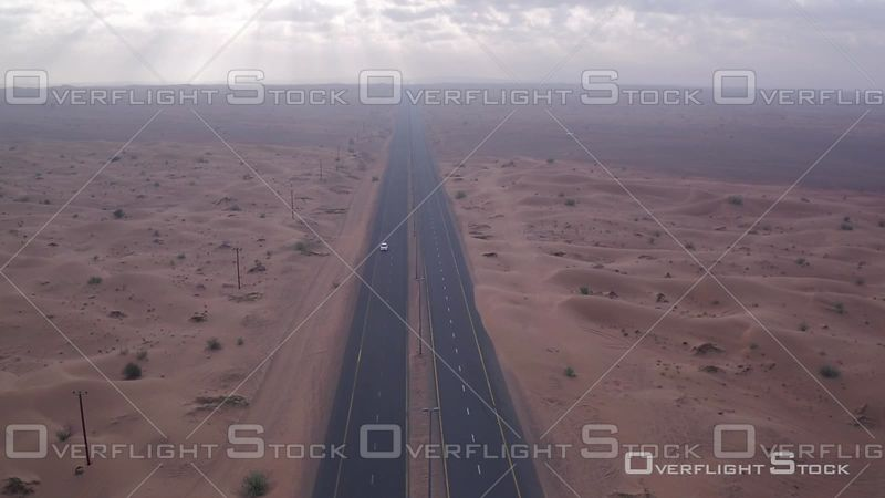 Road Through the Desert Dune in Djebel Ali, United Arab Emirates