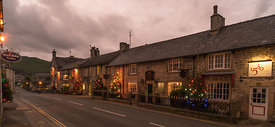 Festive Christams lights in Castleton