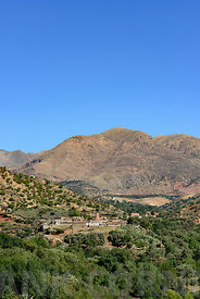 View of the village of Tajalte in Middle Atlas