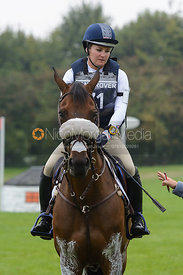 Hannah Sue Burnett and HARBOUR PILOT - cross country phase,  Land Rover Burghley Horse Trials, 6th September 2014.