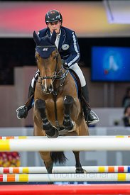 Zurich, Switzerland, 26.1.2018, Sport, Reitsport, Mercedes-Benz CSI Zurich - Longines Grand Prix. Bild zeigt Olivier PHILIPPAERTS (BEL) riding ICOS...26/01/18, Zurich, Switzerland, Sport, Equestrian sport Mercedes-Benz CSI Zurich - Longines Grand Prix. Image shows Olivier PHILIPPAERTS (BEL) riding ICOS.