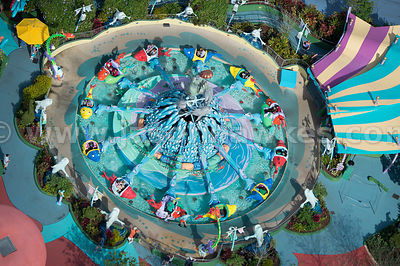 Aimed at young children, Seuss Landing has many themed attractions including the 'One Fish Two Fish Red Fish Blue Fish' ride which has a musical riddle that you can solve to avoid getting wet.